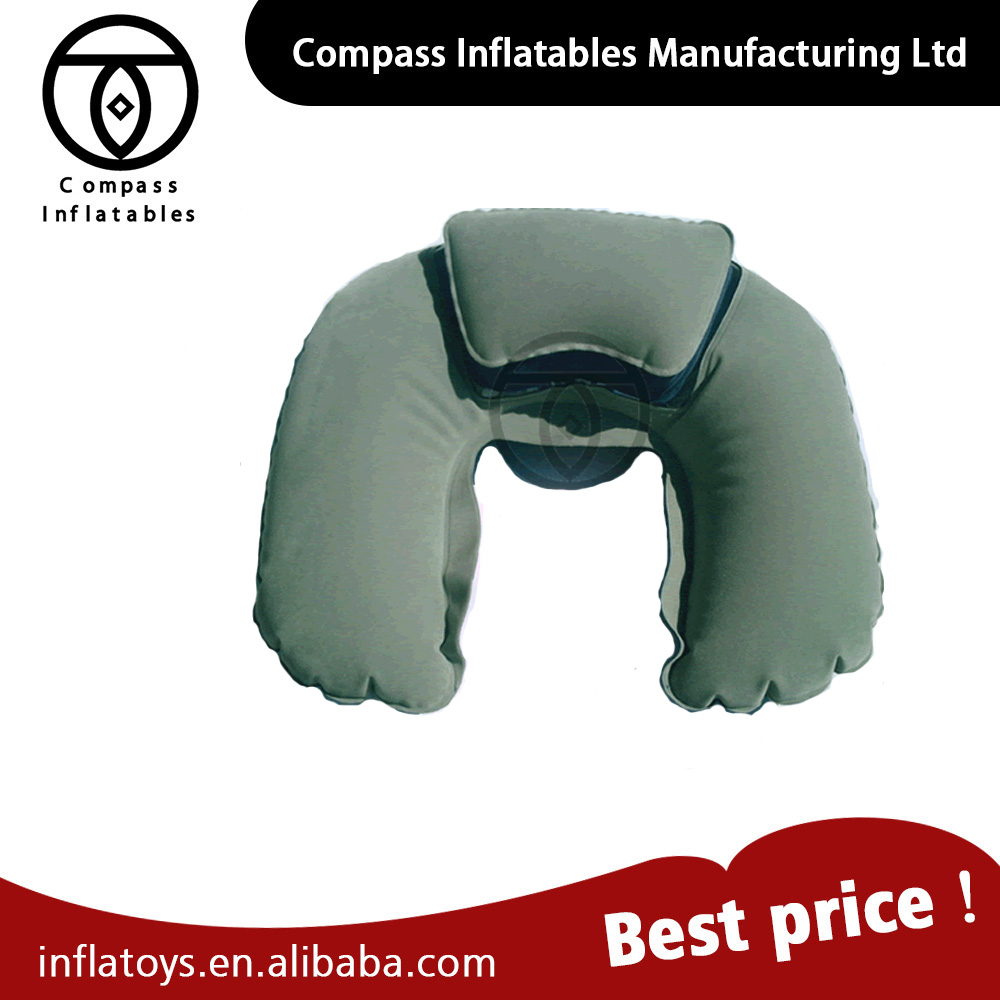 Custom Design Outdoor Air Inflatable Beach Pillow Inflatable travel pillow