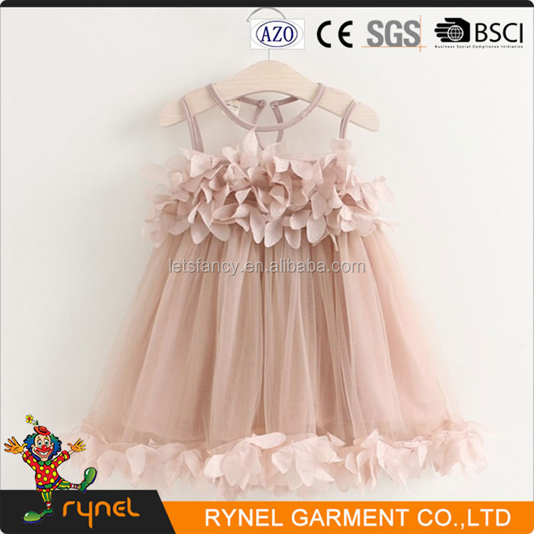 PGCC3756 Fashion Design Small Girls Dress Flower Girl Dress Beautiful Girl Flock Dress