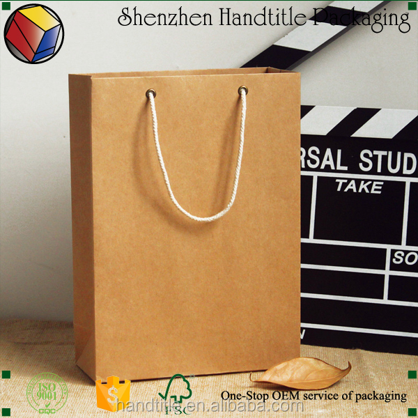 Custom Recycle Paper custom made paper shopping bag printing/eco friendly paper bag
