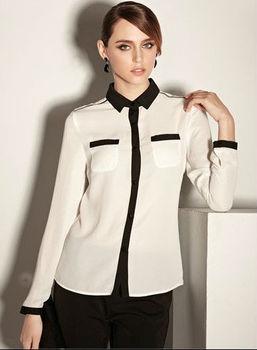 Office Uniform Designs For Women Blouses - Buy T-shirt ...