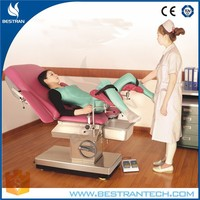 BT-OE004 Luxury stainless steel electric surgery gynaecology examination table