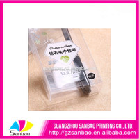 Transparent PVC box folding packing box for pens