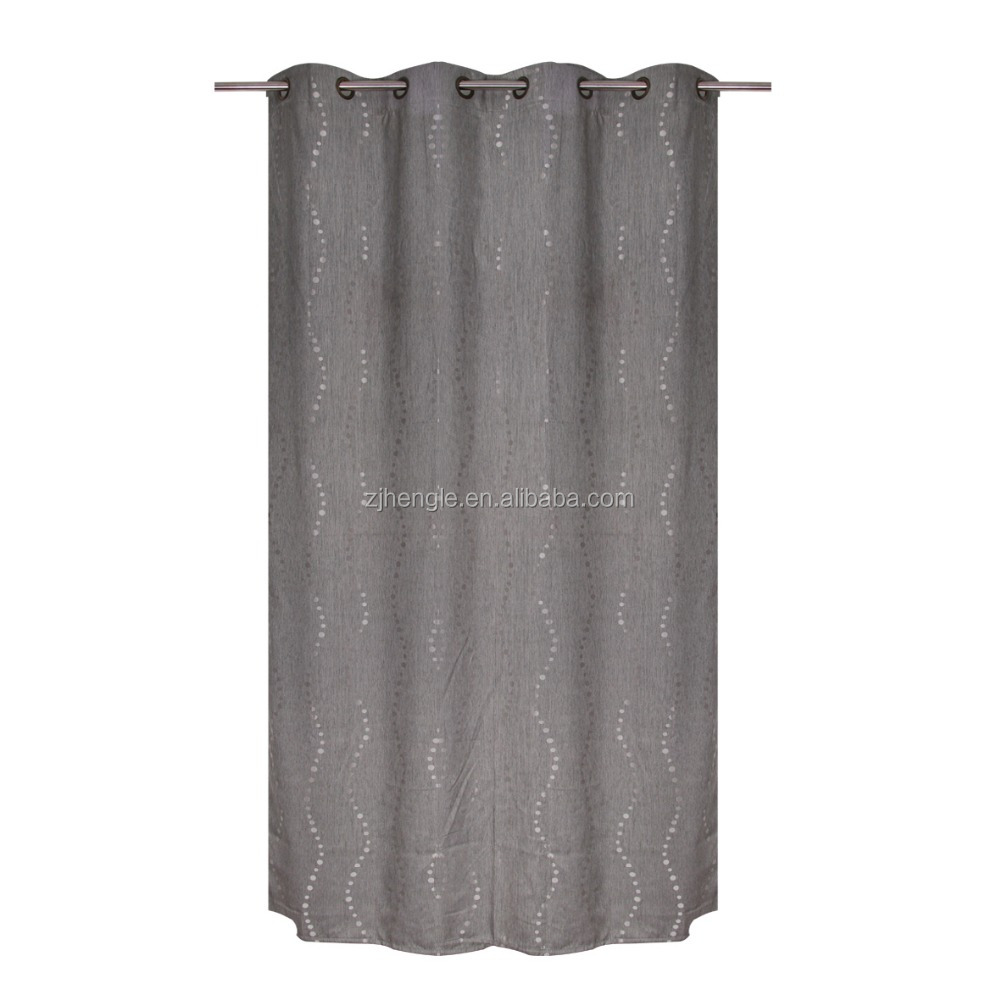 100% polyester latest drapery window curtain