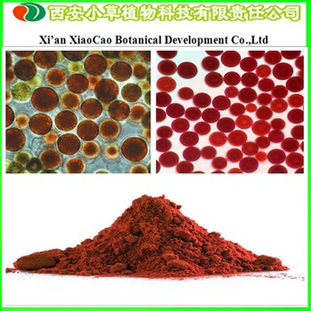 Supply 100% Natural Astaxanthin / Haematococcus pluvialis Extract / CAS 472-61-7 from GMP Manufacturer