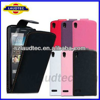 Laudetc Brand New Leather Flip Case For Huawei Ascend P6,For Huawei P6 Case