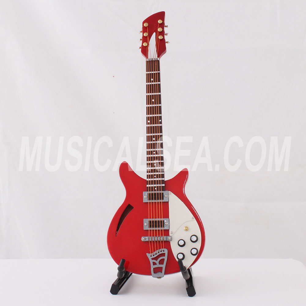 Hot sale miniature guitar and mini guitar christmas tree ornament item musical instrument wooden crafts