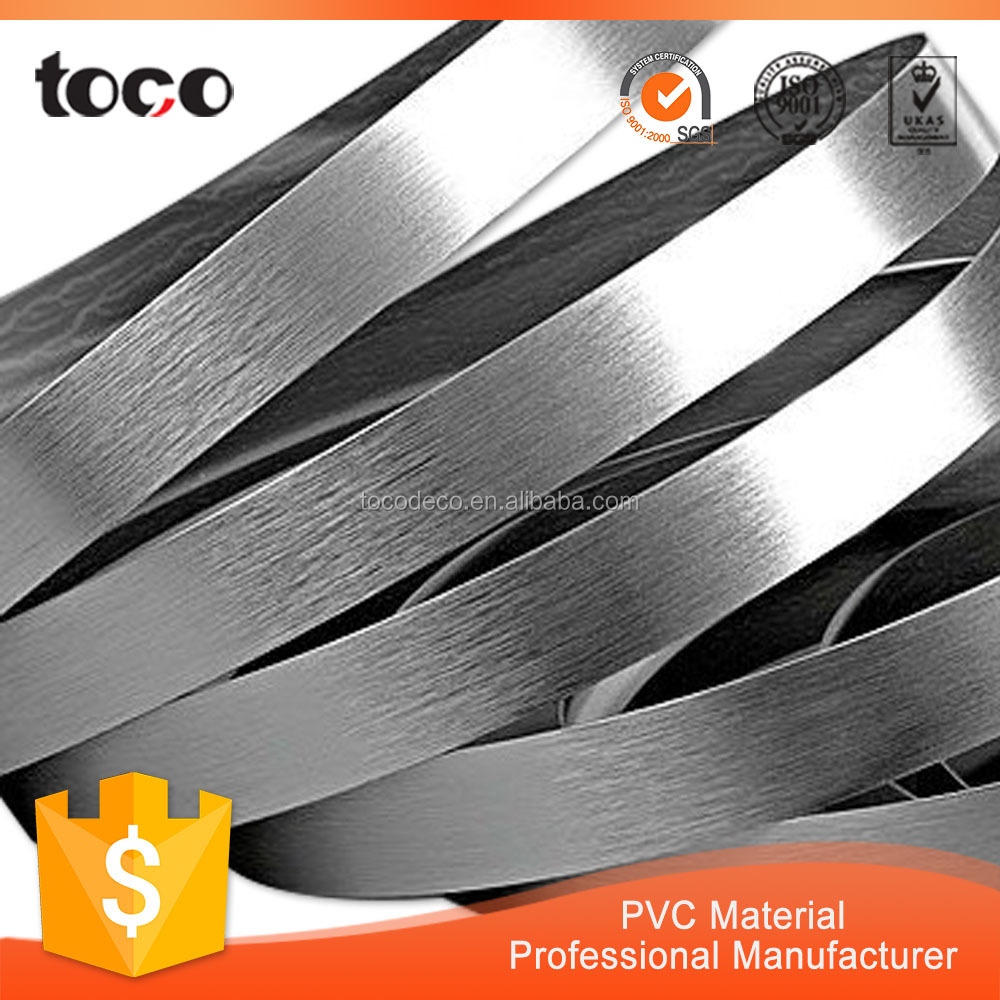 Metal Color Furniture PVC Edge Banding