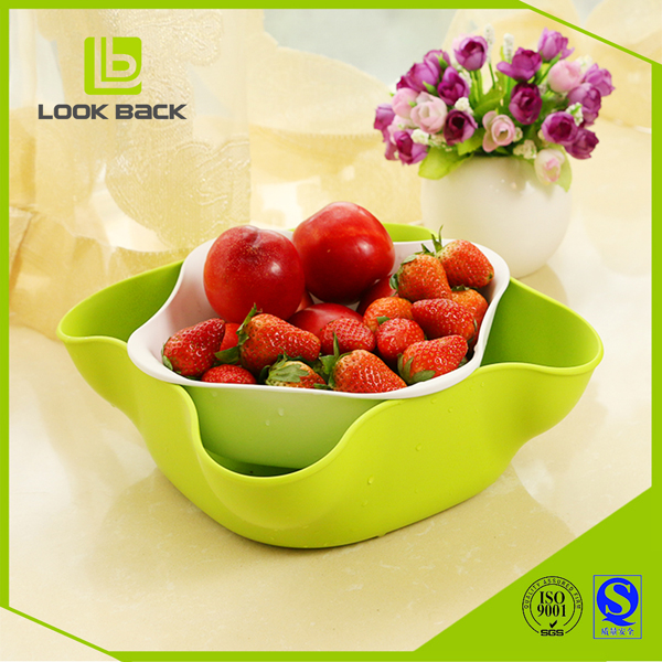 Look Back High Quality Wholesale Price Fruit Bowl Double Dish
