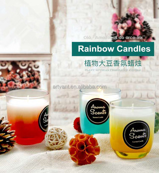 100% Natural Plant Fragrance Essential Oils Smokeless Scented Candle,Aroma Scented Candle in Glass Jar,Glass Jar Candles
