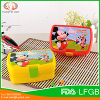 Customized plastic food warmer lunch box for kids , kids lunch box with water bottle