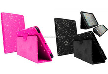 Diamond bling PU Leather stand Case cover For iPad 2 3 4 air