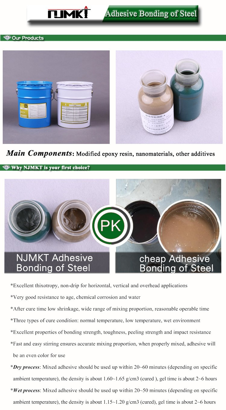 NJMKT Epoxy Resin hesive steel bonding glue