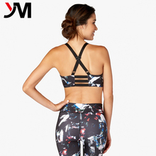 Custom Made Yoga Clothes Cheap Wholesale Gym Fitness Palette Triple Strap Bra