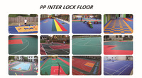 promotion good quality pp interlocking floor tiles for futsal/ basketball/ badminton/ tennis/ volleyball court