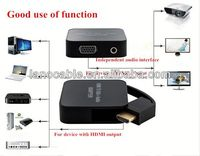 Input HDMI To Output VGA Audio Converter With Audio Cable