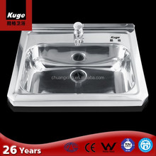 Sanitary Ware 304 Stainless Steel Types Of Lavatory Sink