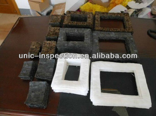 pre-shipment inspection of photo frame and QC inspector from third party inspection company