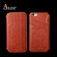 Luxury italian leather phone case wallet opening case for iphone 6