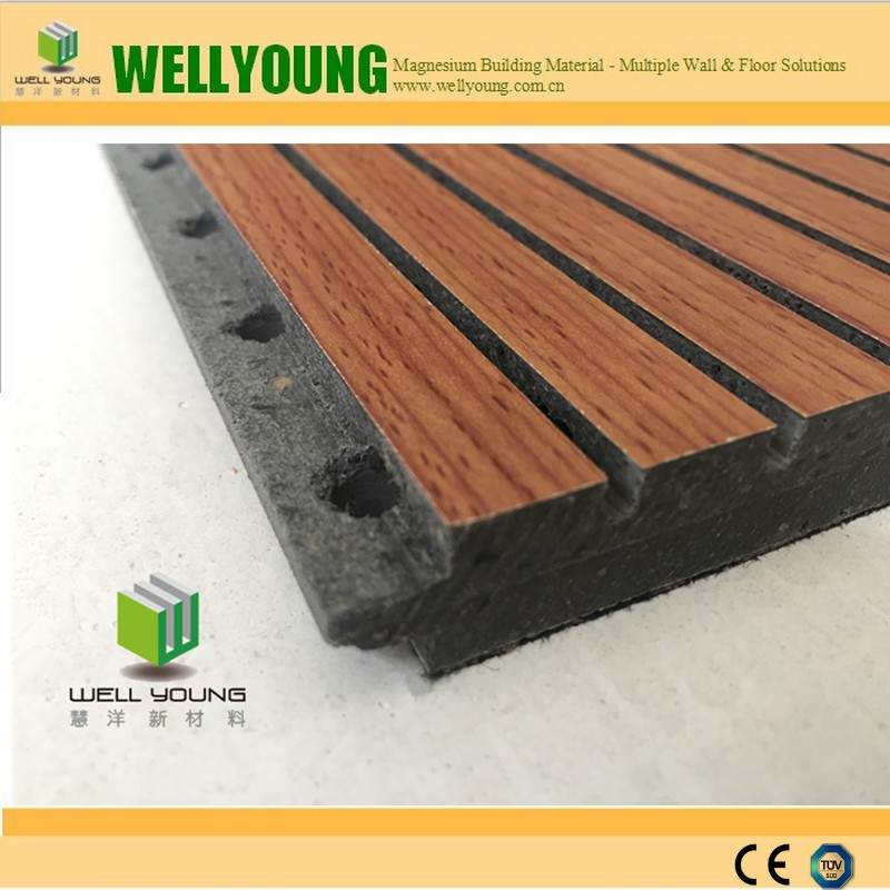 anti-fire sound proof slotted and perforated acoustic mgo board