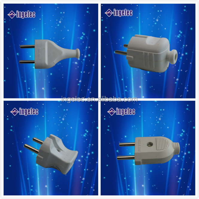 Ingelec electrical 2 round pin to 3 pin adapter plug germany to usa adapter plug,european to american plug adapter