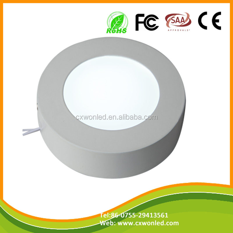 AC85-265V Input Voltage surface led indoor 24w ceiling light round and square ceiling panel lamp