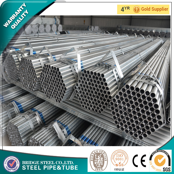 Hot ! Chinese Mill export galvanized pipe in turkey company standard sizes at factory prices