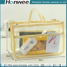 2013 professional teen soft sewing zipper clear pvc cosmetic bag