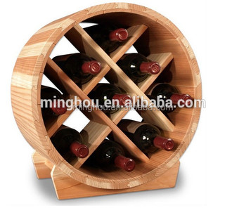 special wine barrel design round wine rack