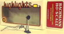 HO Scale Trains ELECTRIC TARGET TRACK SIGNAL LIGHT - 370
