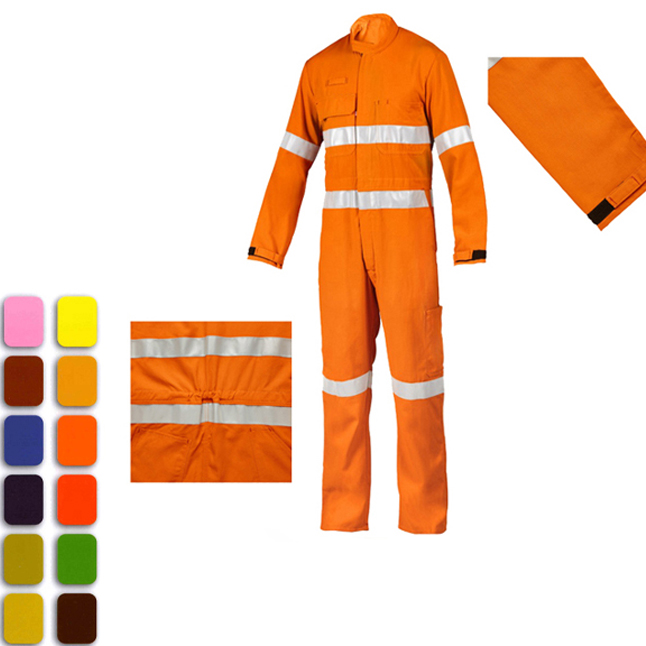 OEM Hi Vis Two Tone Reflective Safety Workwear Customized Overalls
