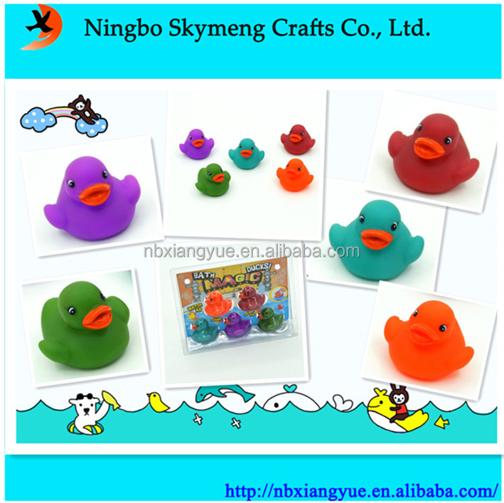 Eco-friendly colorful mini rubber duck temperature plastic duck