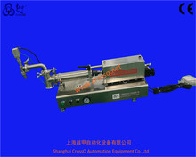 China PMK small semi automatic pneumatic stainless steel liquid piston filler