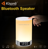 Smart LED Light Mini Bluetooth Speaker Touch Sensor Led Table Lamp Speaker With Clock display