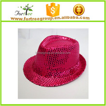 sequin gangster hat hot pink fedora hats