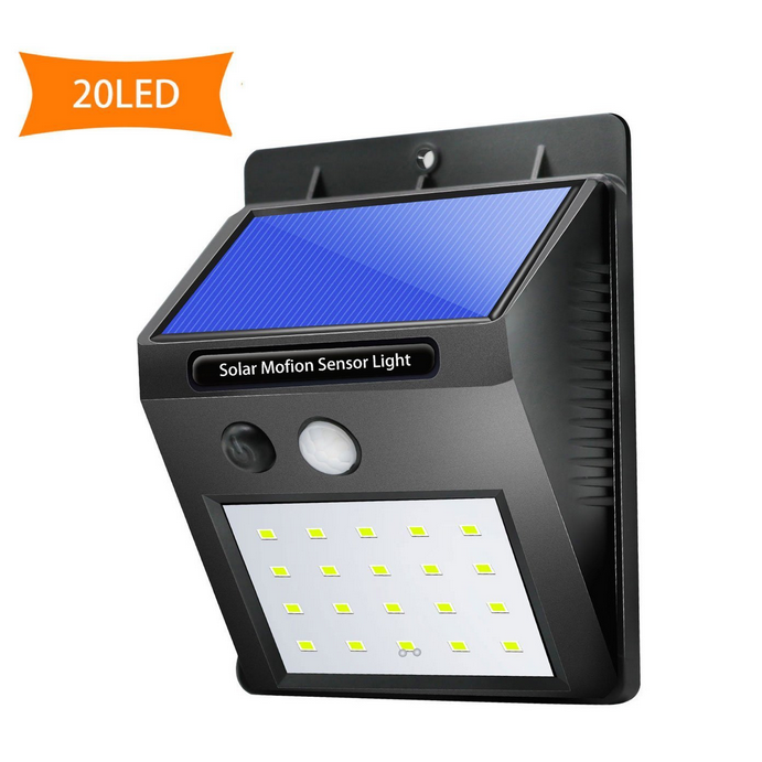 20 LEDs Solar Sensor White Light Wireless Waterproof Motion Sensor Security Outdoor Wall Light