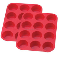 Cupcake Baking Pans, 12 Cups Silicone Muffin Cupcake Baking Pans,cupcake baking cups