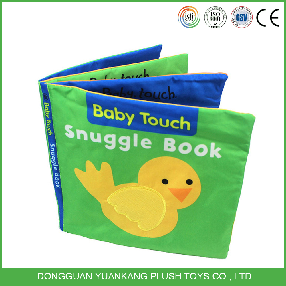 Custom colorful baby cloth book soft educational toys for kid