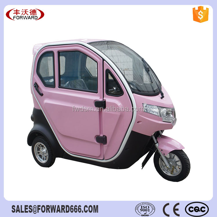 60V 800W Motor Passenger Tricycle 3 Wheel Electric Tricycles