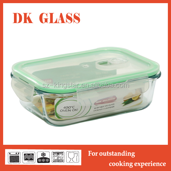 Pyrex Airless Glass Food Storage Container/Safe Microwave Glass Lunch Box With Lid/Glass Storage Box With Lock