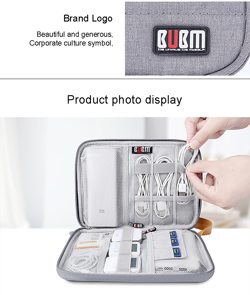 BUBM Nylon Electronic Accessories Office Table Retractable Management Cable Organizer Storage bag
