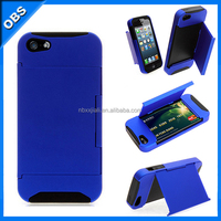 2014 new design PC hard mobile phone case for iphone5 iphone5s with slot insert card function(OBS-M6093)