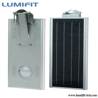 Shenzhen factory direct sale integrated solar led street lights 15w , solar led garden lights with PIR Sensor