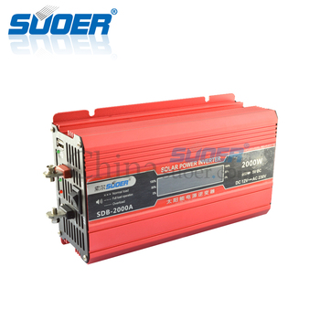Suoer Off Grid Tie 12V AC230V USB Charging Interface 2000W Solar Power Inverter