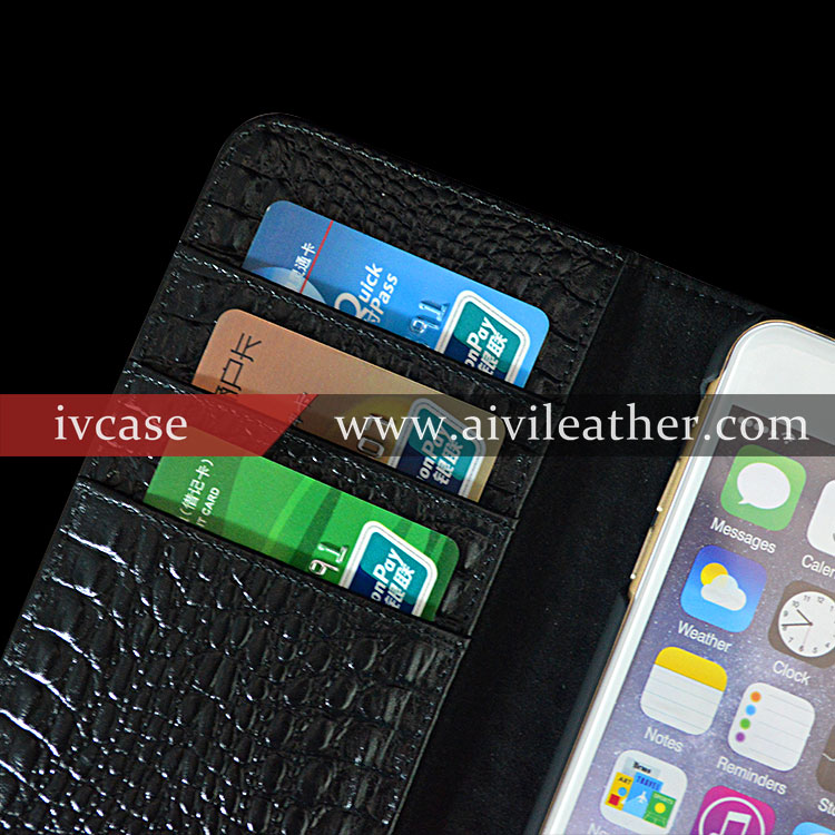 Crocodile Texture Magnetic Horizontal Flip Leather Case with Holder & Card Slot for iPhone 6s