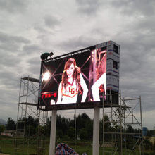 Stable Outdoor Comercial Screen P10 Aluminum Profile SMD LED Display With Waterproof Use