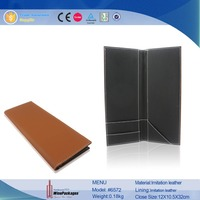 Most Popular High End Restaurant Leather Menu Cover