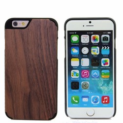 Black PC + Wood Cover 4 Corners Wooden Phone Case For Iphone 6