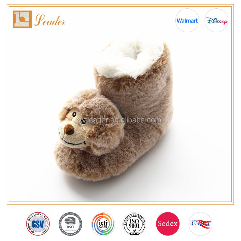 Cute Monkey Fluffy indoor slippers Animal Slippers for Kids