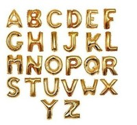 16 inch Gold and Silver Letter Foil Balloons A-Z For Wedding Birthday party, party accessories