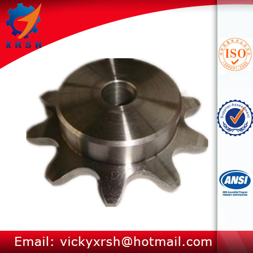 Double Pitch Linked Chain Single Hub Gear Box Sprockets